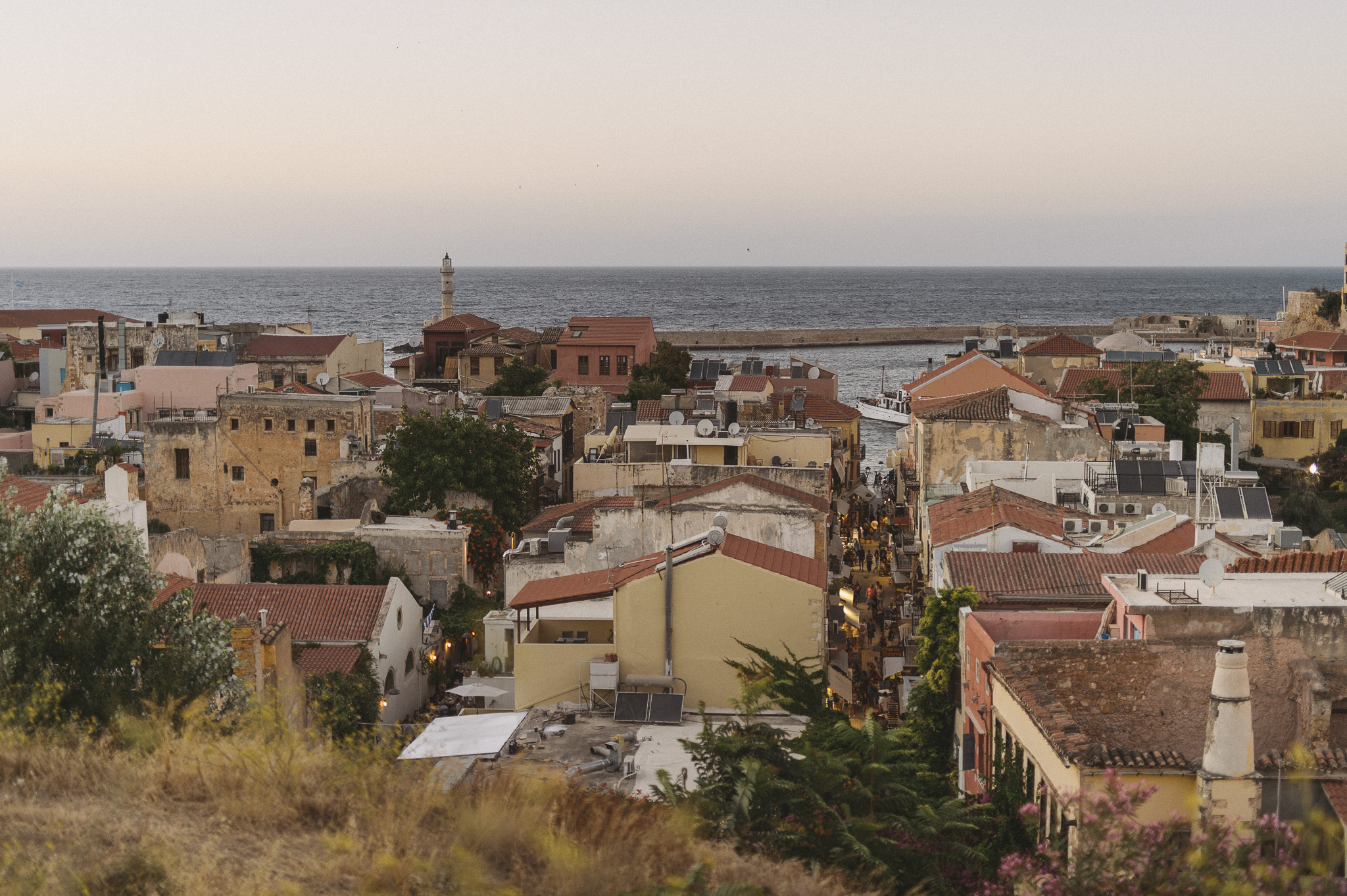 Chania old town from above