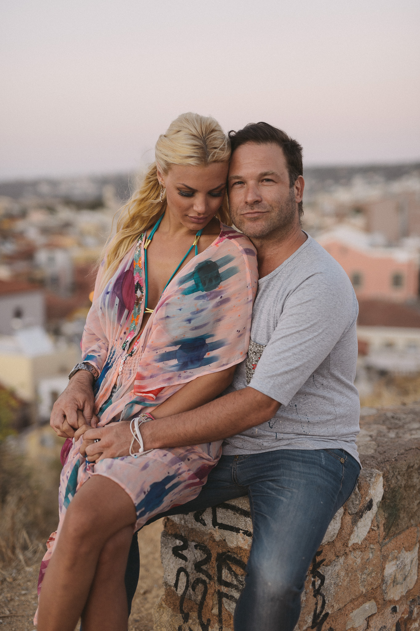 Alexandra Panagiotarou with Aristomenis Giannopoulos couples session in Chania Crete Greece