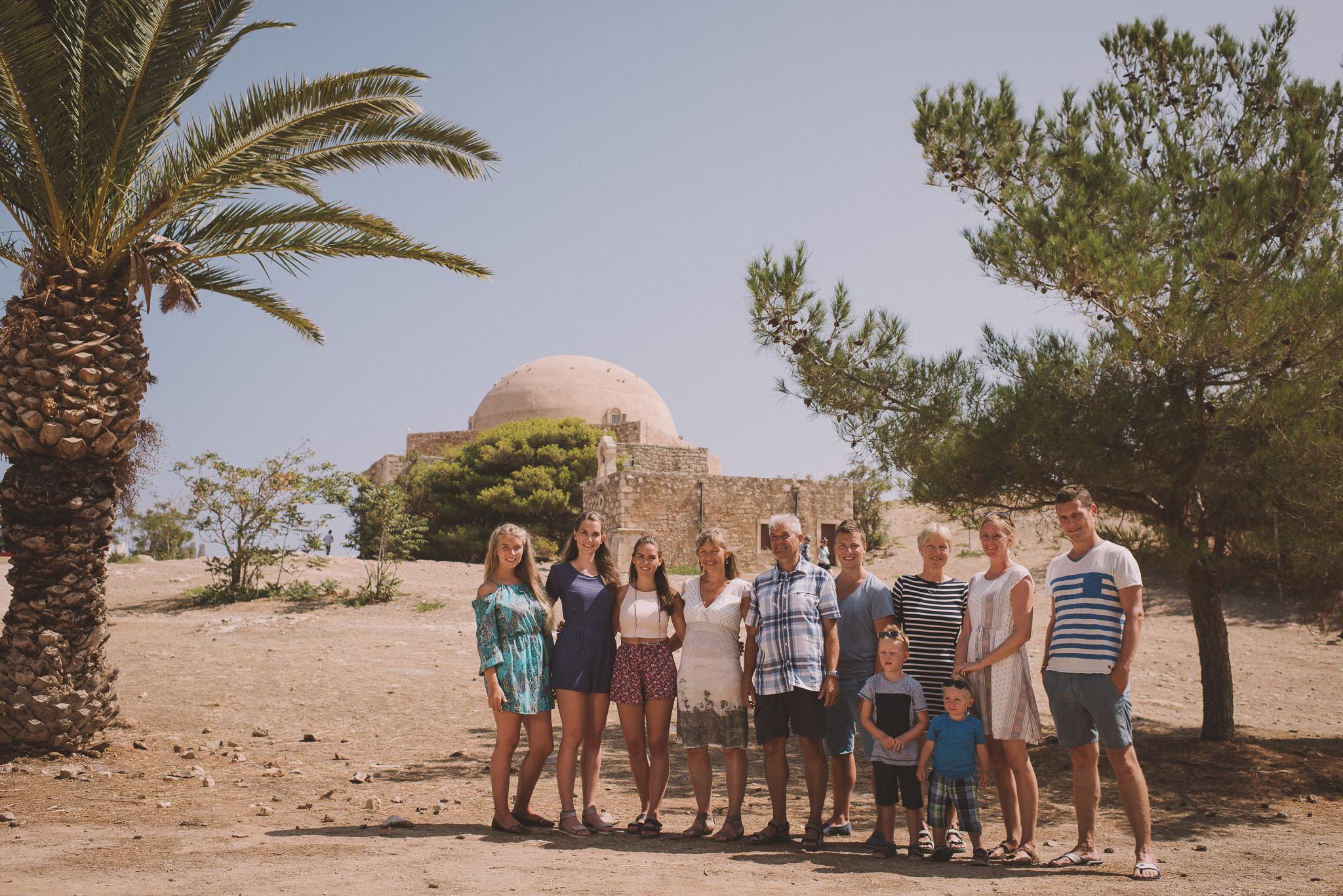 Family photo shoot in Fortezza castle Rethymno Crete Greece