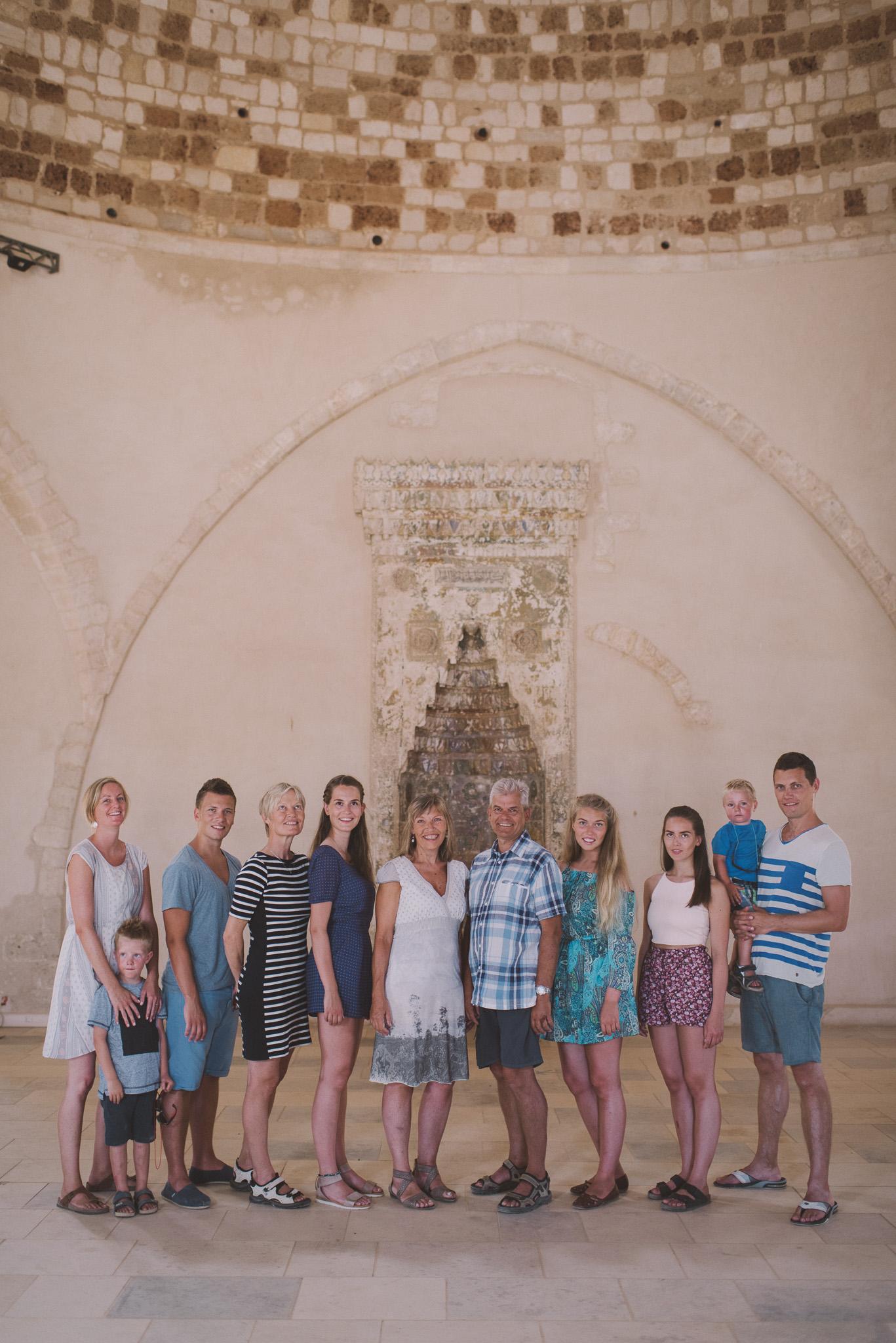 Norwegian family in Fortezza castle Rethymno Crete