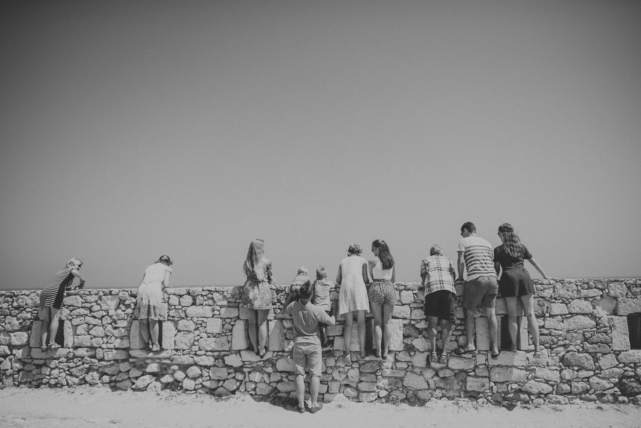 Family session in Fortezza castle Rethymno Crete Greece