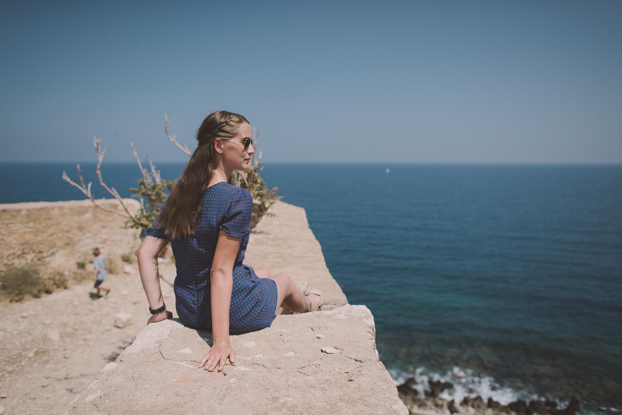Portrait photo session in Fortezza castle Rethymno Crete Greece