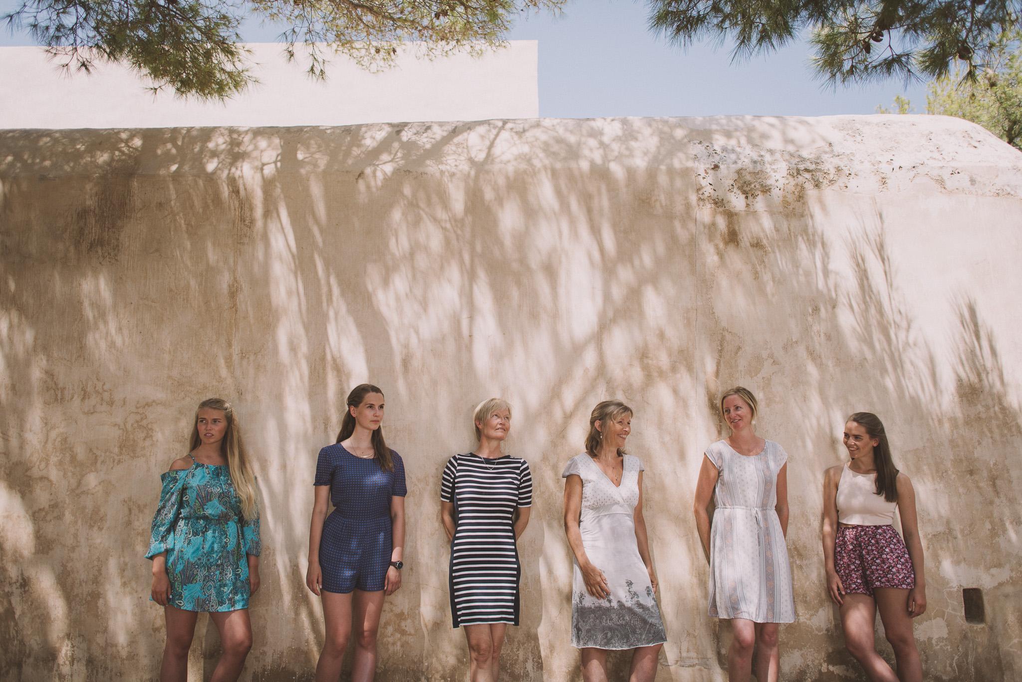 Norwegian family in Fortezza Rethymno