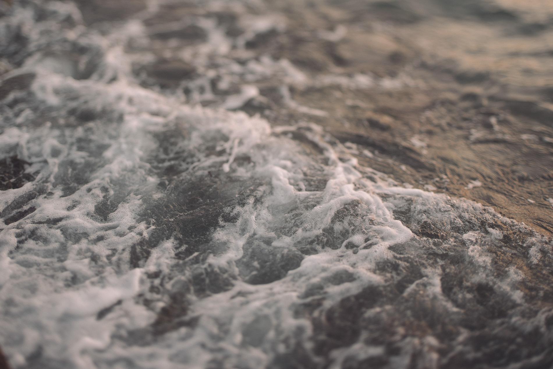 Ocean water in the harbor