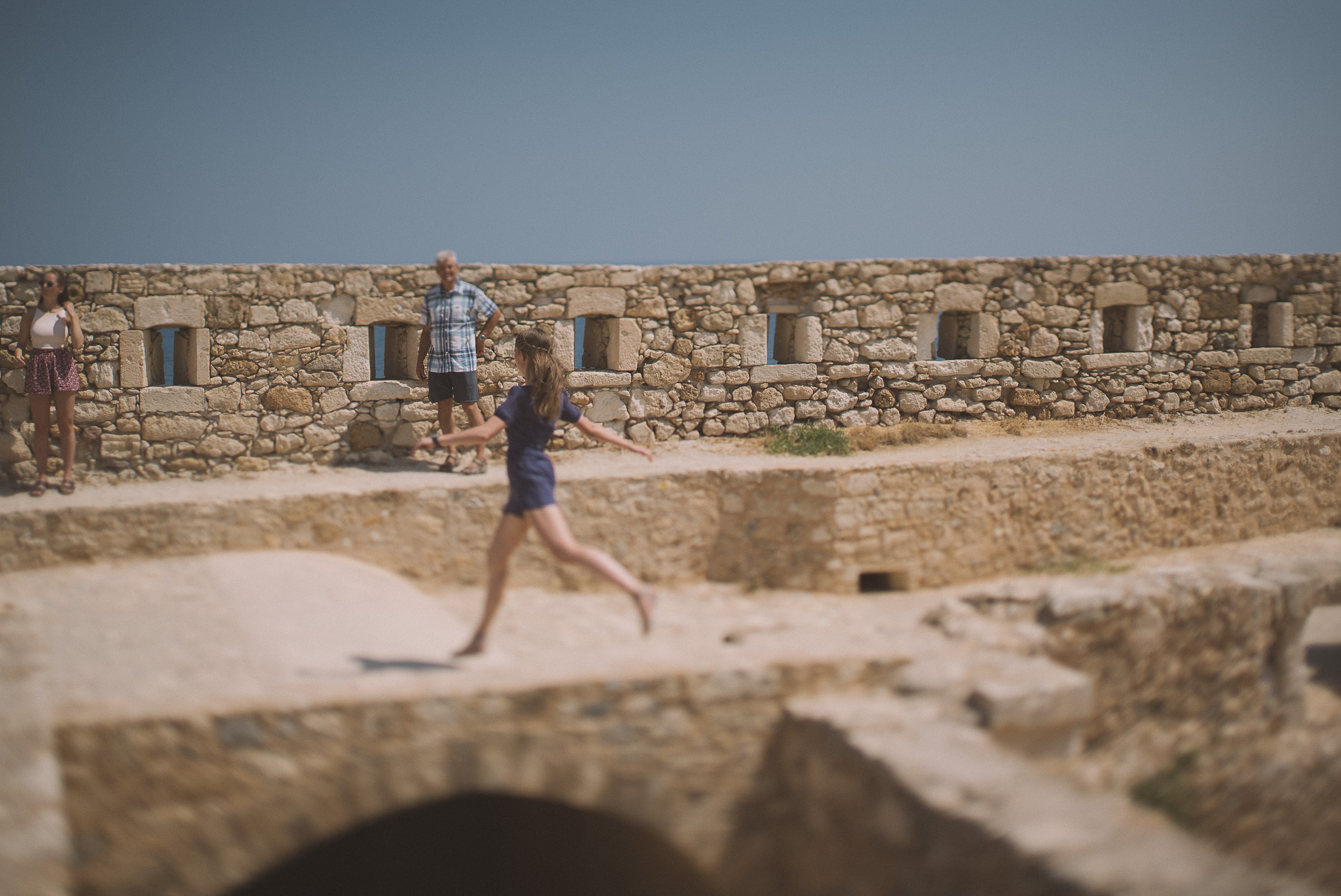 jump in Fortezza castle Rethymno