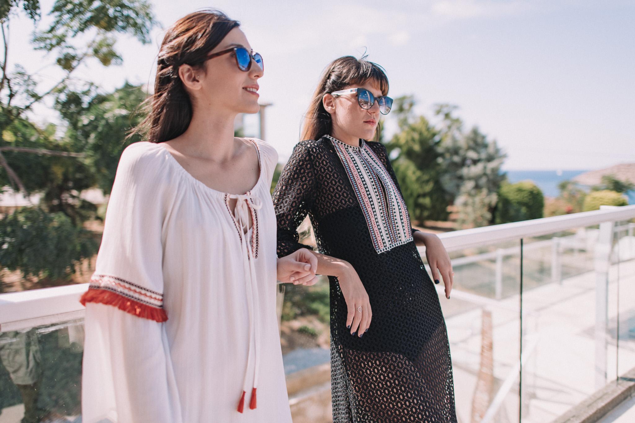 Girls at villa in Chania Crete