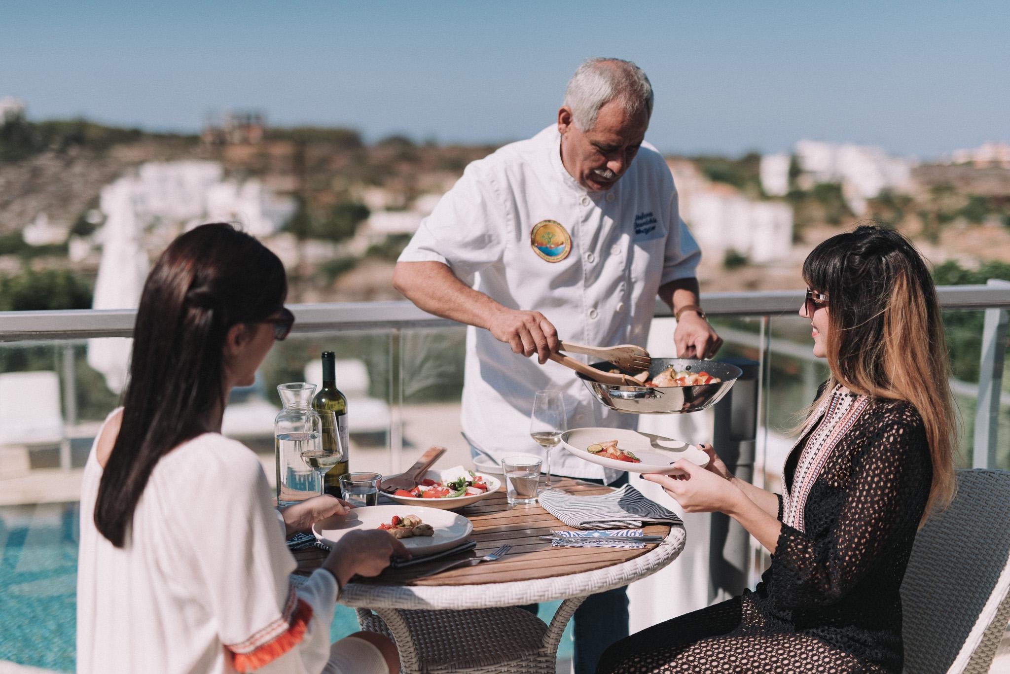 Private dinner at Villa in Chania Crete Greece with Chef
