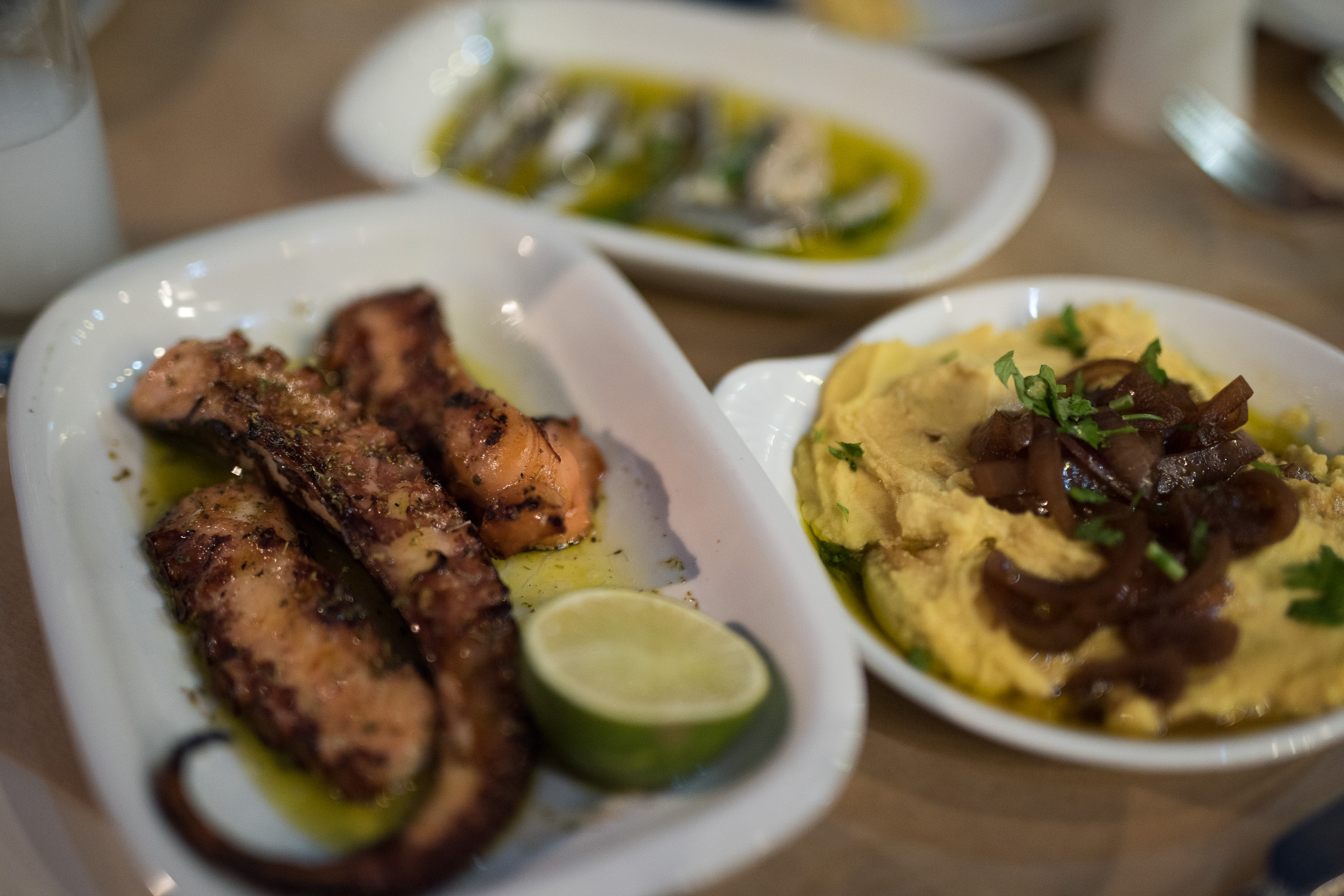 Taverna food in Chania Crete