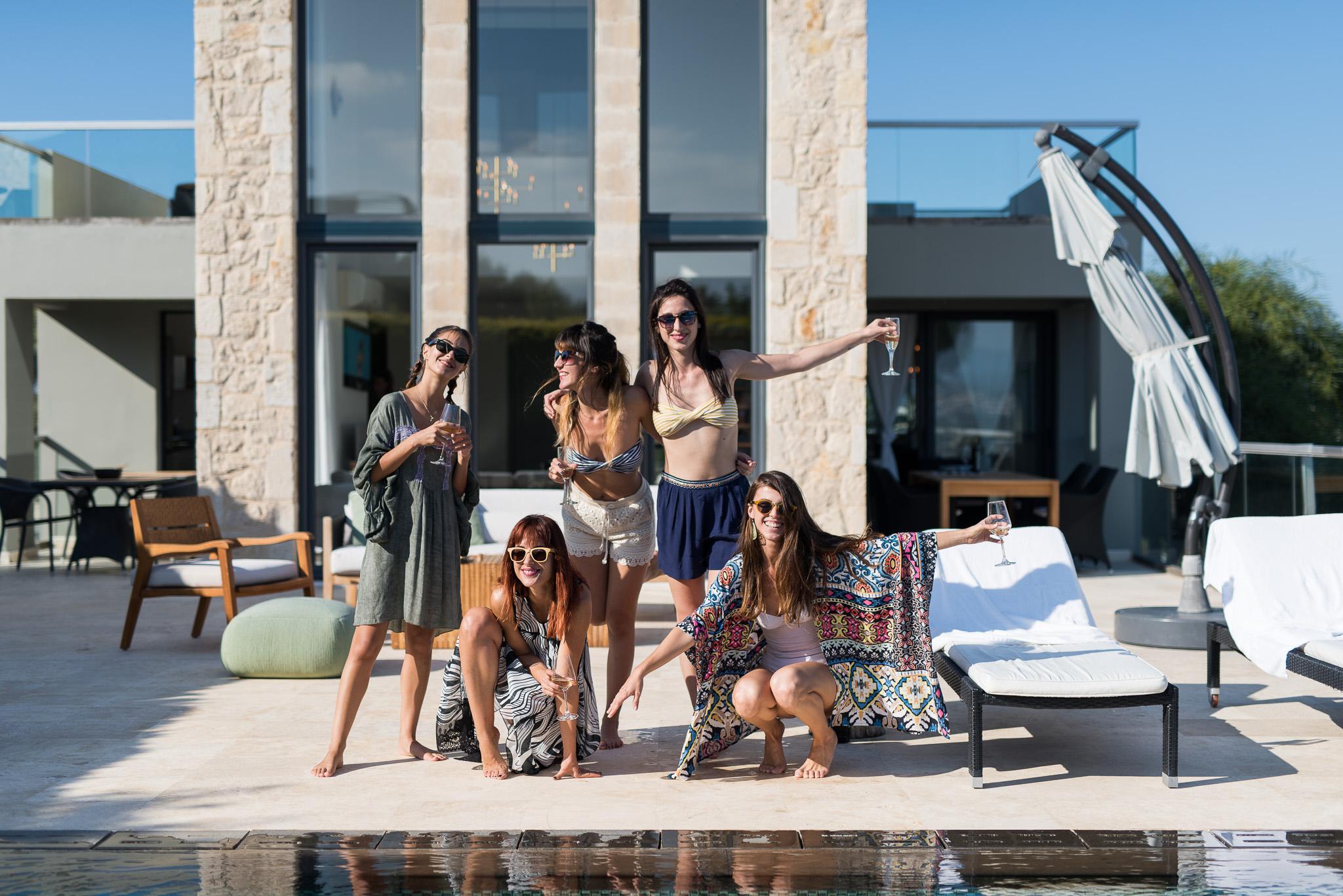 Party at private villa in Chania Crete Greece