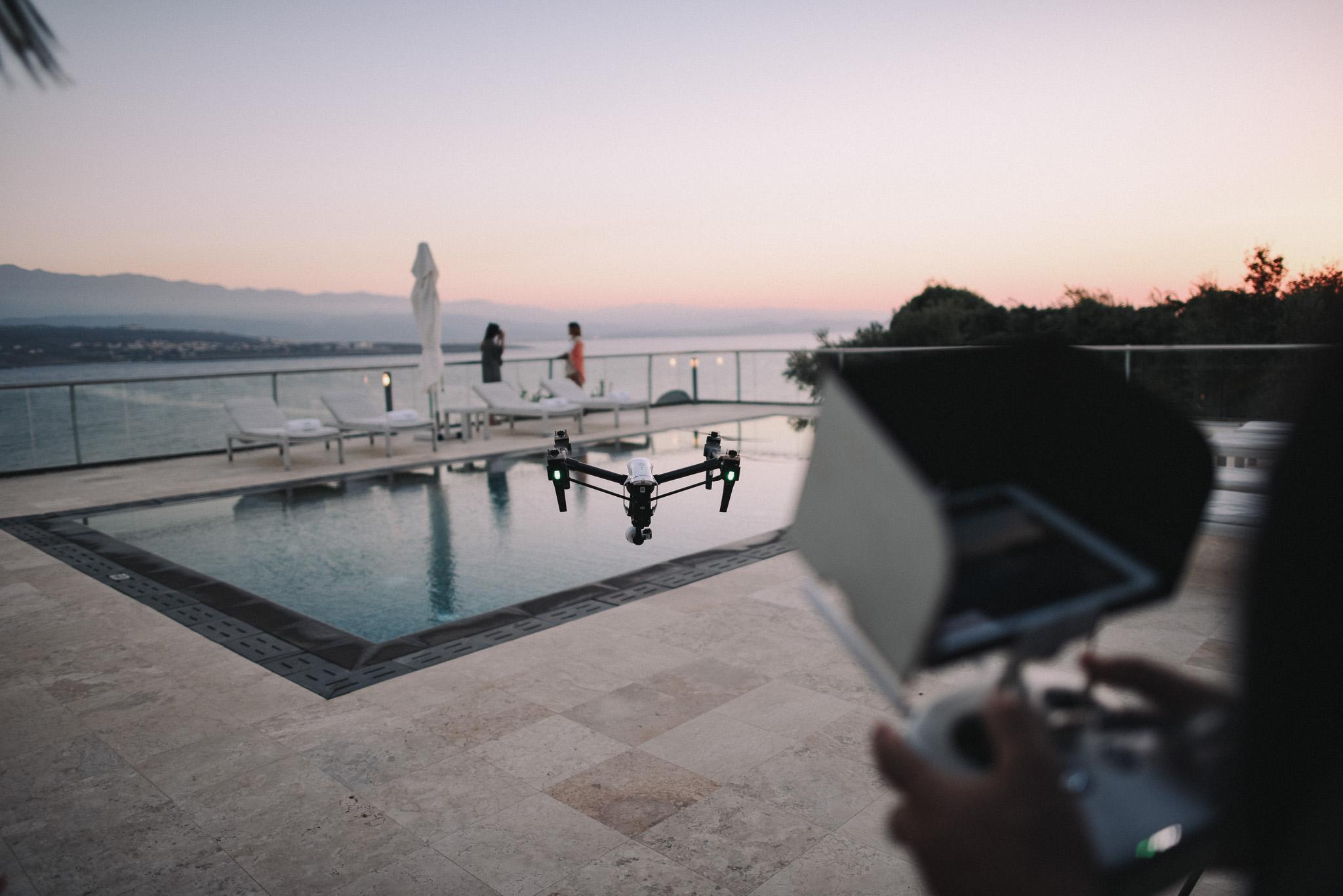 Drone for video of the villa