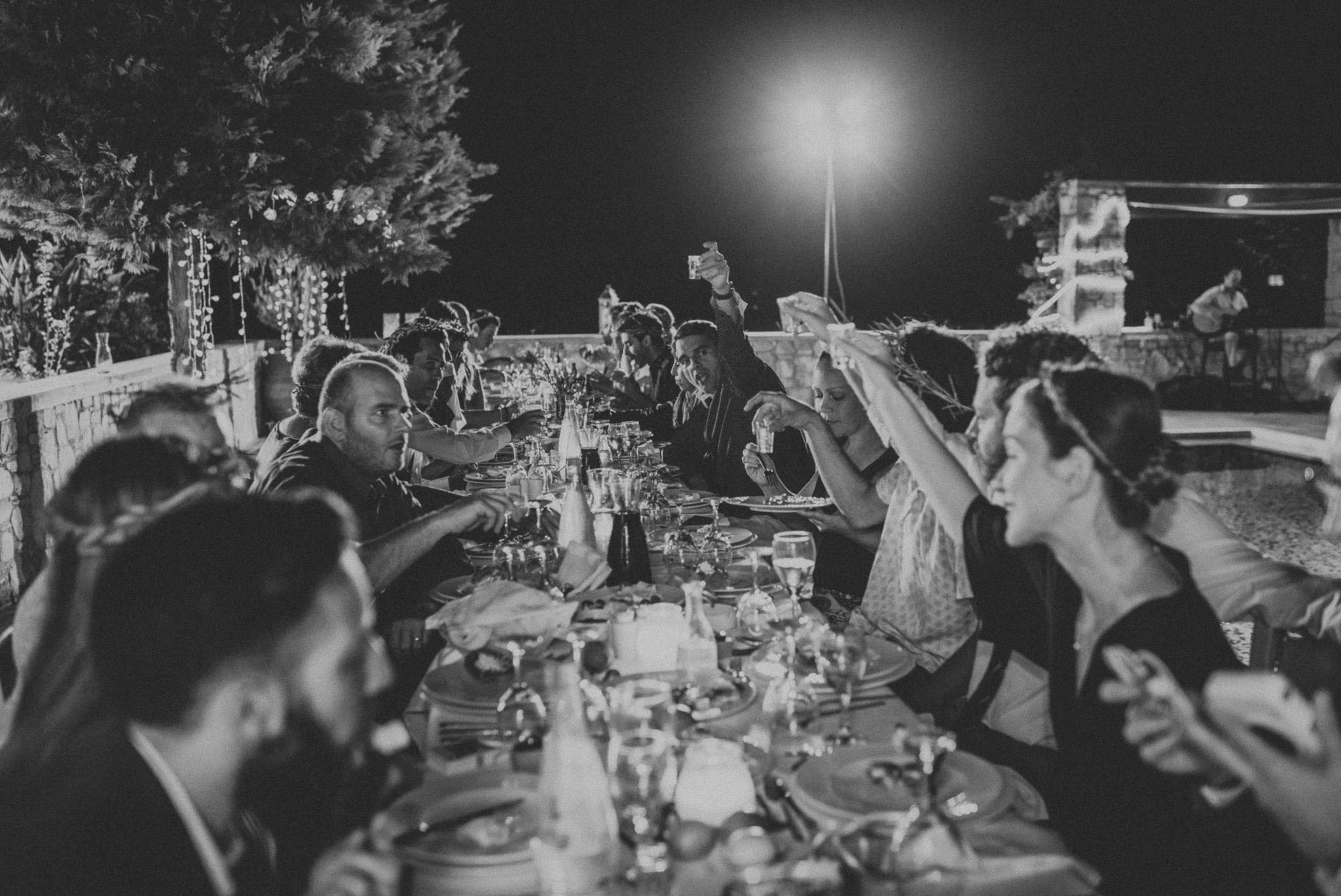 Wedding reception at private villa