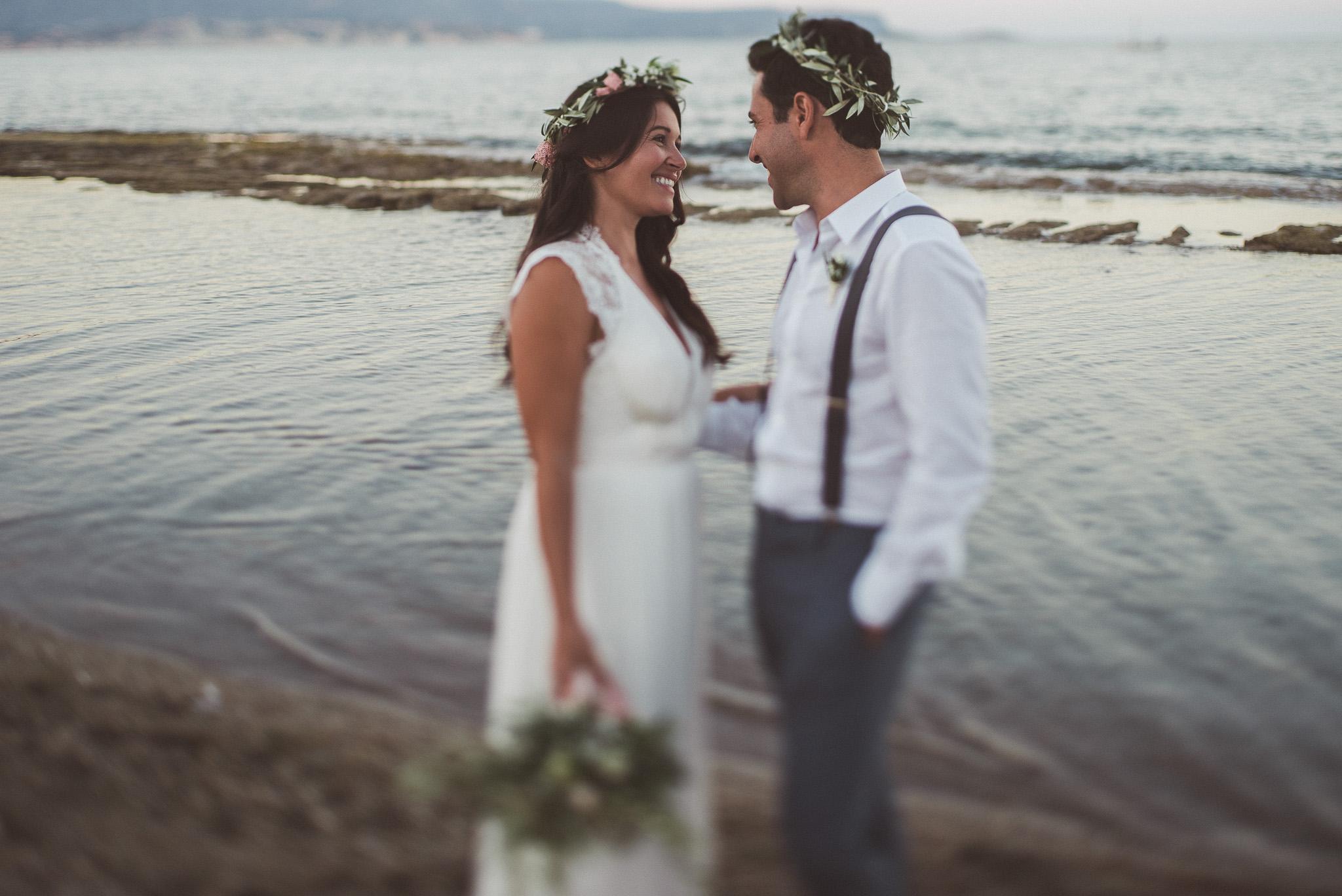 Greek Jewish couple on the beach