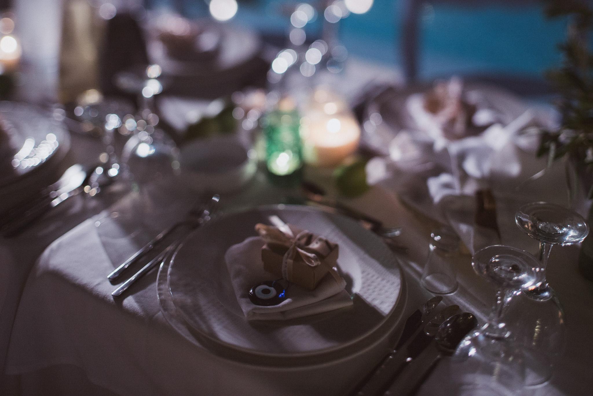 Wedding dinner at private villa