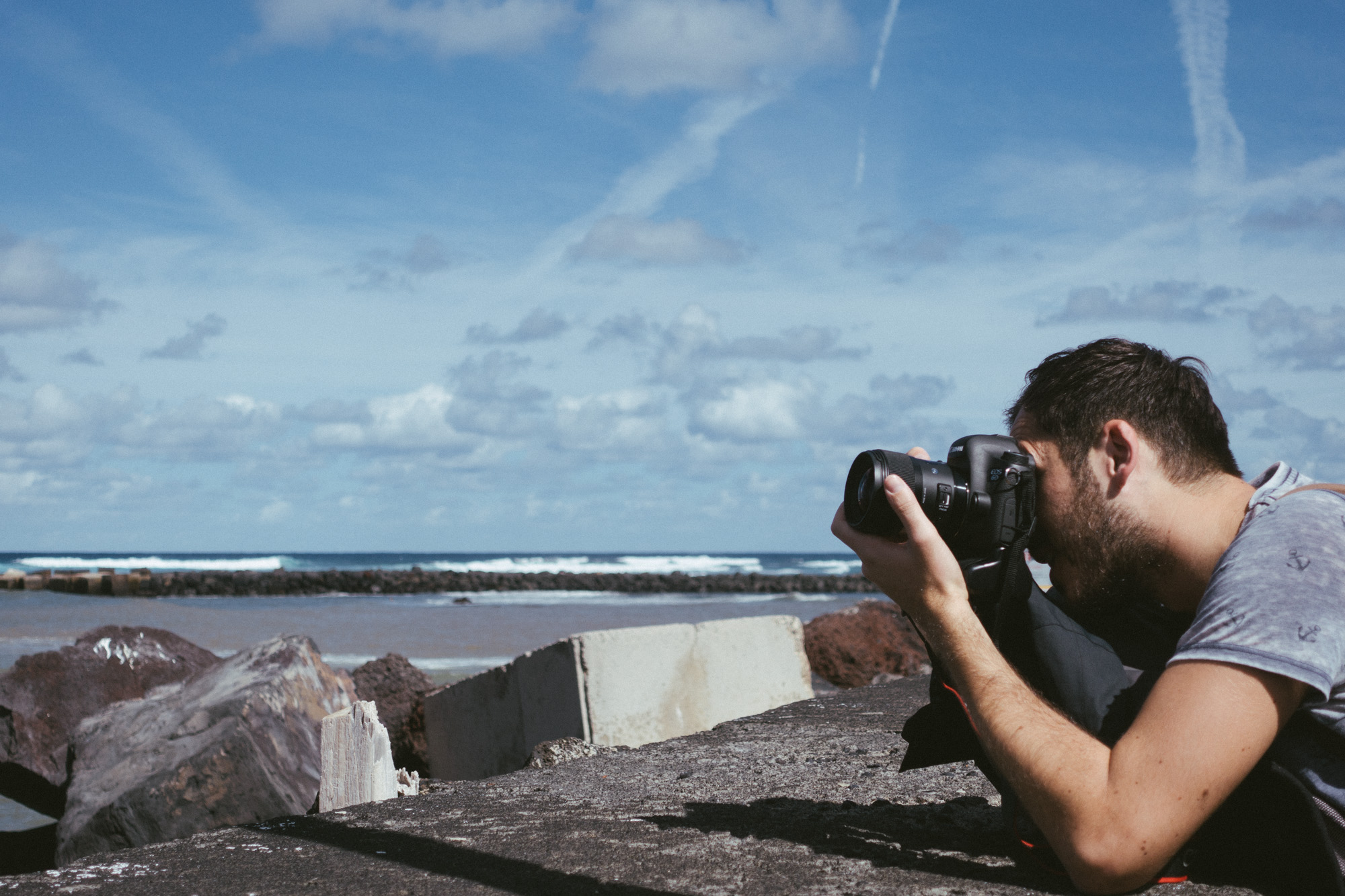 Lukas Piatek shooting some of the scenery on our way to the workshop