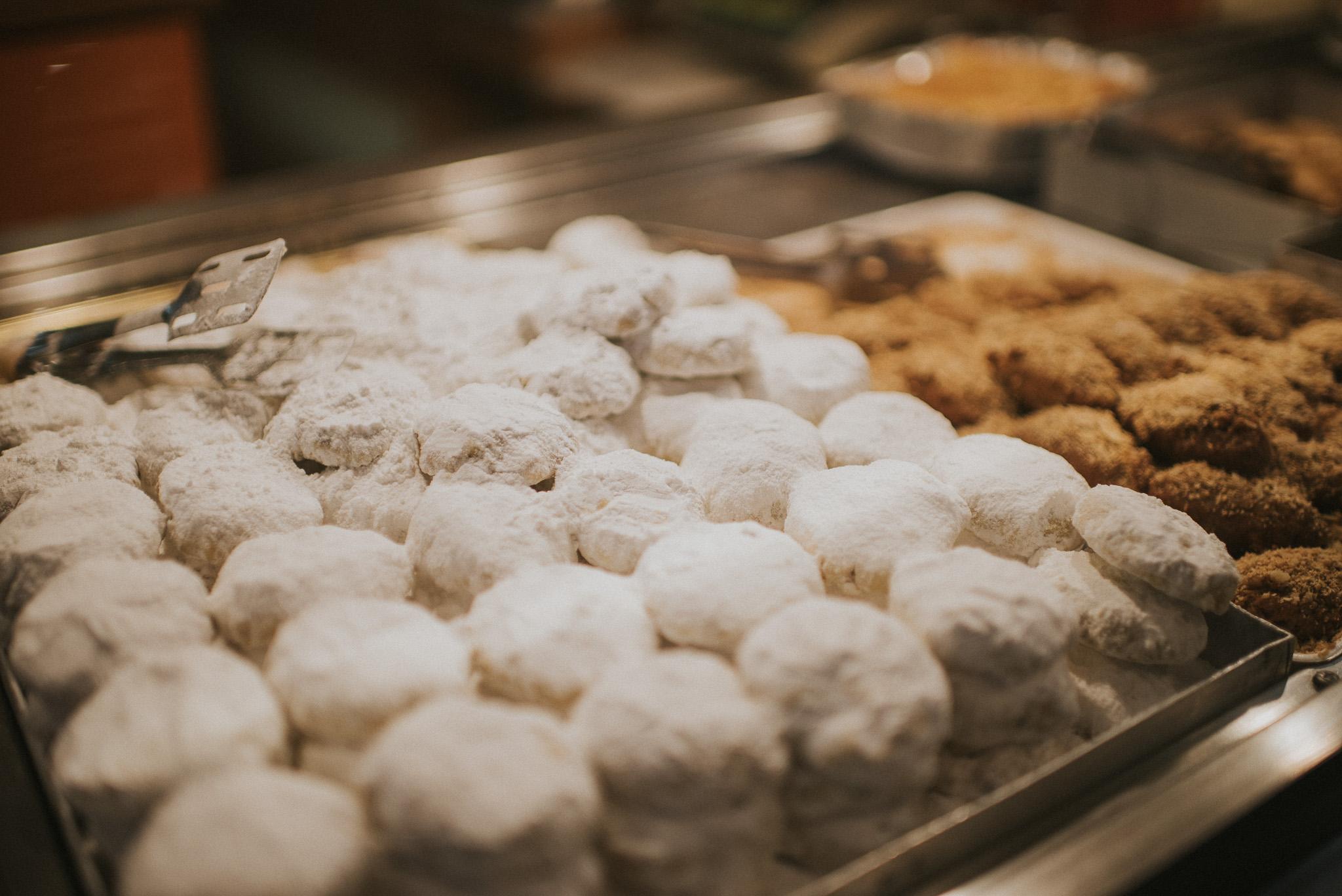 Kourabiedes & melomakarona. Traditional cookies of Christmas.