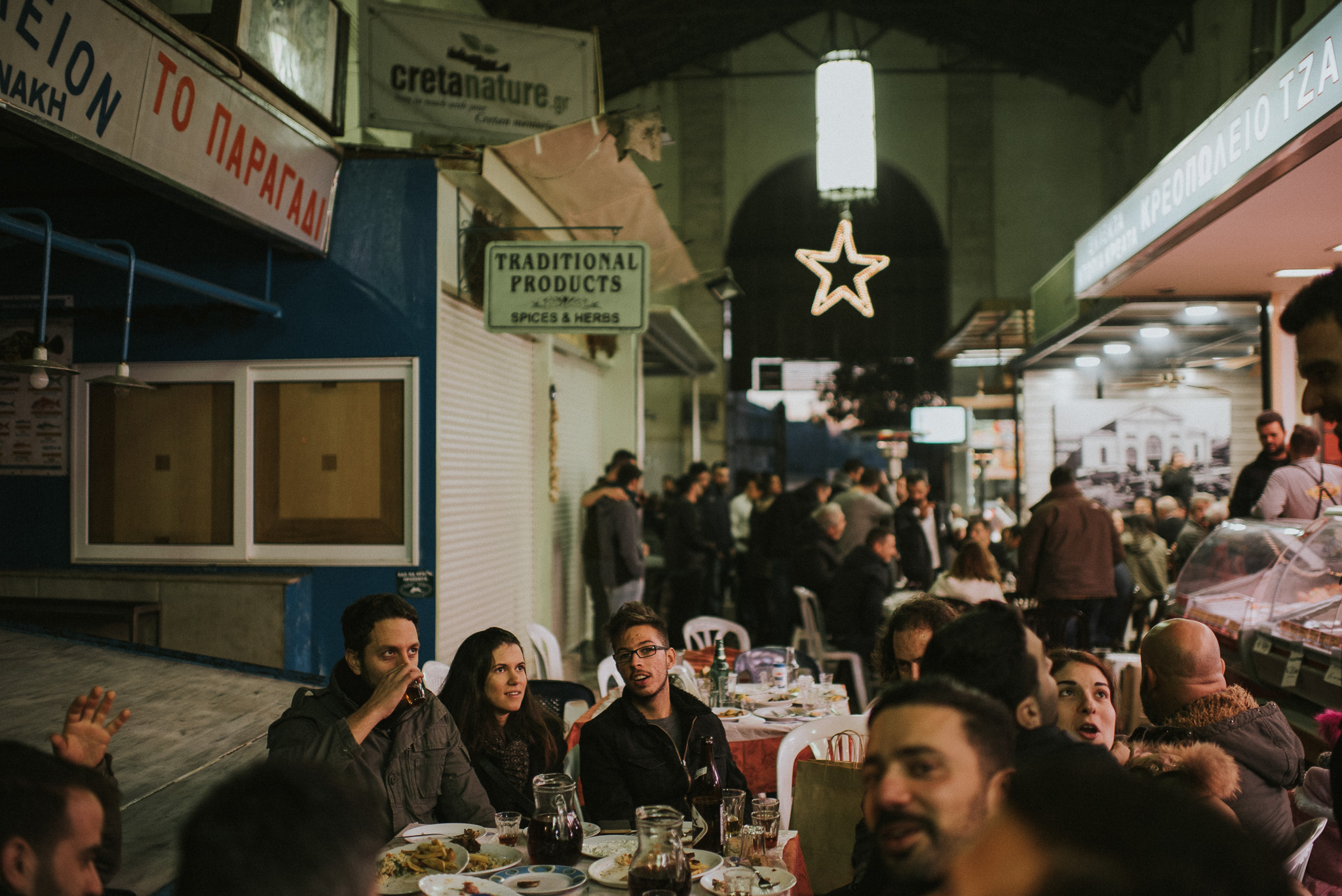 Eating together in the Agora market